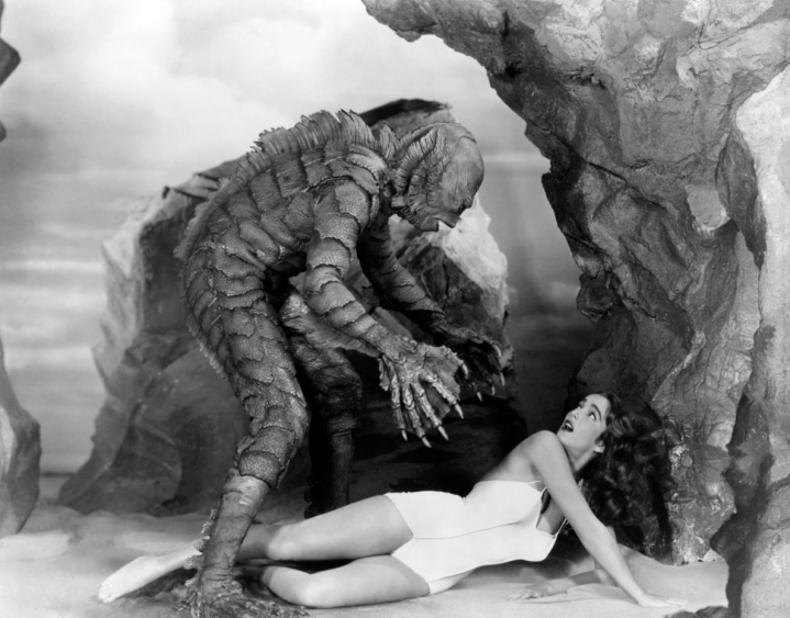 Creature From The Black Lagoon Monster With Girl