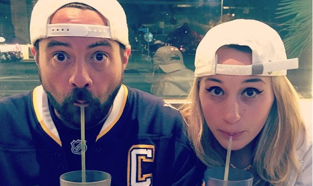 Kevin Smith and Harley Quinn Smith