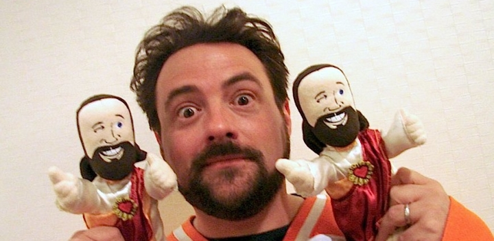 Kevin Smith and Buddy Christ